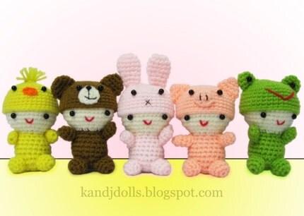 Fluffy Babies  PDF Amigurumi Crochet Pattern from etsy.com