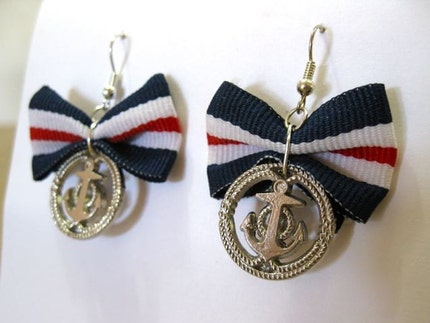 Hello Sailor bow earrings