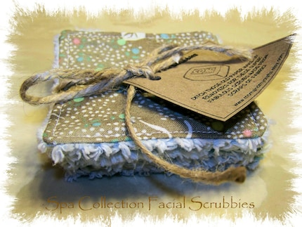 Spa Collection Reusable and Washable Facial Scrubbies and Makeup Removers (set of 5)