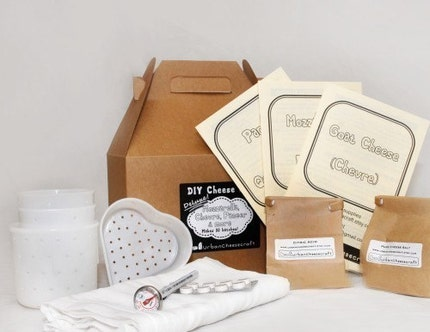 Deluxe DIY Cheese Kit, make Mozzarella, Ricotta, Goat Cheese/Chevre, Paneer, Queso Blanco...