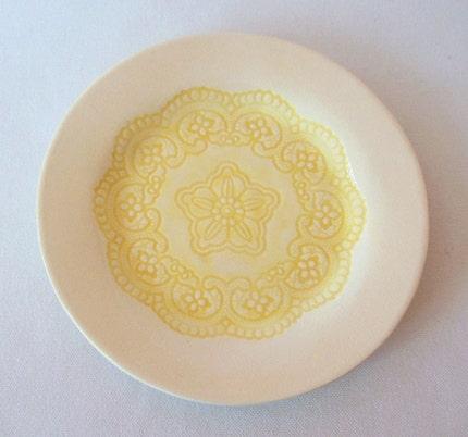 Hand Built Porcelain Doily Dish