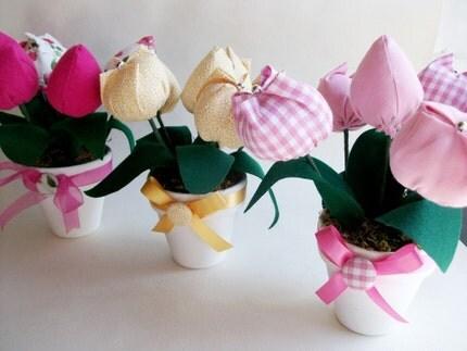 Plush Tulip Flower Pot