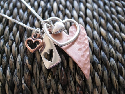 READY TO SHIP Queen of Hearts Mixed Metal Charm by sTuckintheCoop