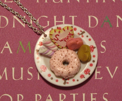 Sweet Tooth Plate Necklace / Pendant