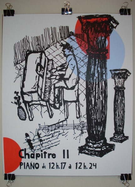 Piano From 12(17) to 12(24) - French Music Screen Print Poster - 16 x 20 inches