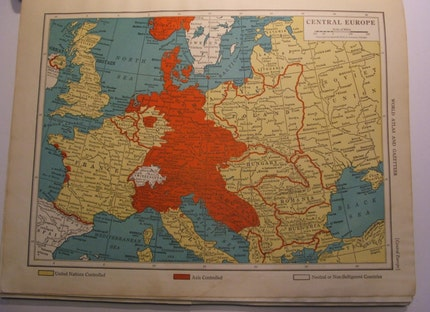 1939 Europe map by ConduitPress