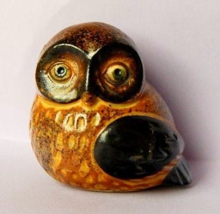 Vintage owl figurine looks like Otagiri by spacejam on Etsy
