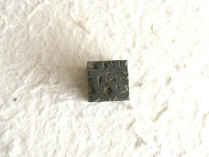 Vintage Japanese Typewriter Key Stamp Showa Period Number L Size