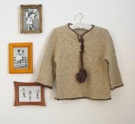 Vintage 60s Boho Pom Pom Sweater (XS-S)