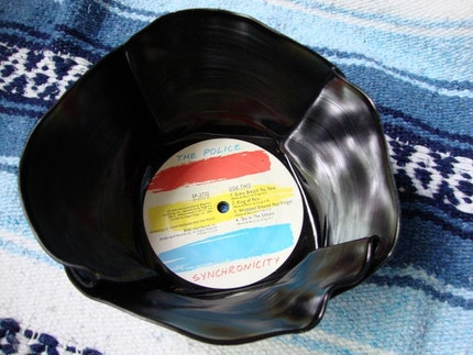 Recycled Record Bowl - The Police