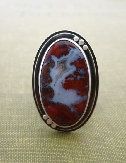 Huckleberry Ring in Carmine-Size 7.5