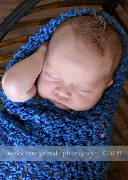 Royal Blue Baby Cocoon - Ready to Ship in 3 - 5 DAYS