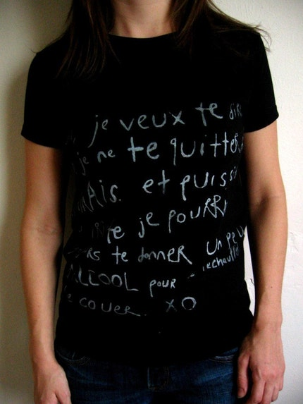 FRENCH LOVE AND L'ALCOOL (black) (womens small)