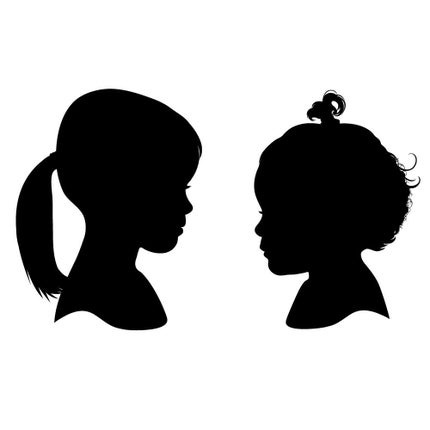 Two Custom Silhouettes - PDF Printable File - STILL TIME FOR MOTHER'S DAY