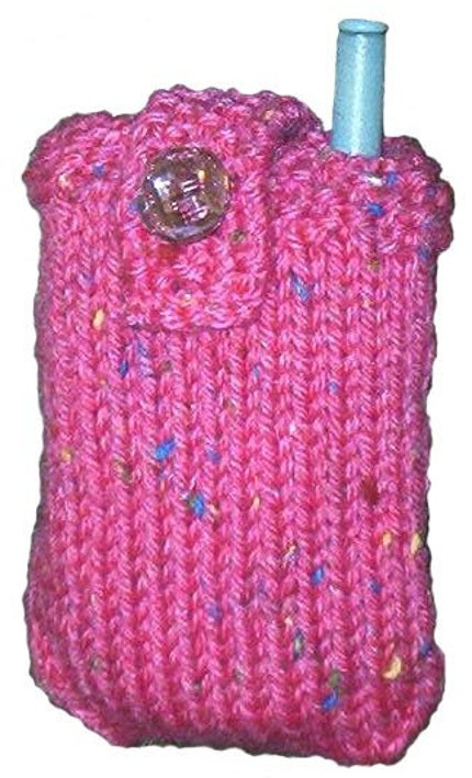 Think Pink Cell Mobile Phone Case Knitting Pattern pdf