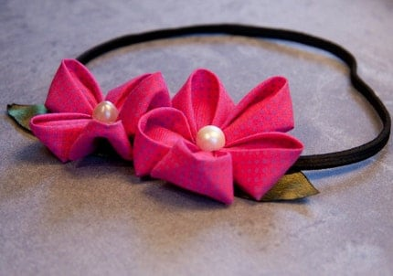 Folded Strawberry Headband
