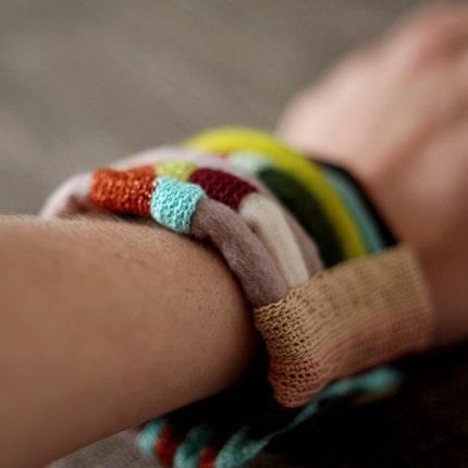 striped fiber cuff