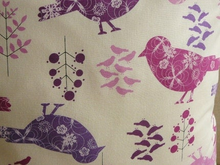 Berry Birdies - Pillow Cover