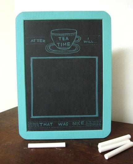 Mini Goals Chalkboard - After Tea Time - Light Blue