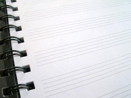 Manuscript Paper Notebook Music Manuscript Staff Paper