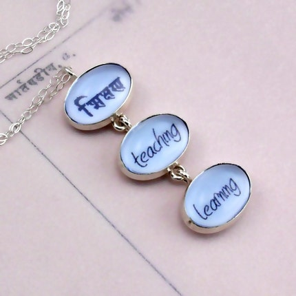 Teaching and Learning Necklace in Sanskrit and English