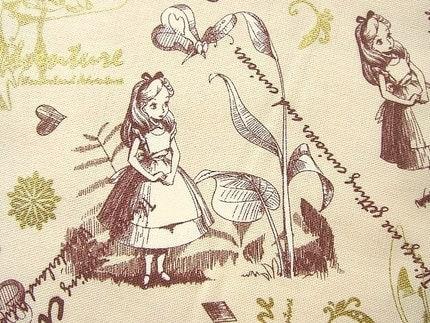 Cute Japanese Fabric Alice in Wonderland (F84)