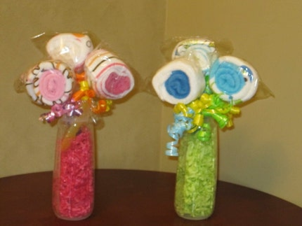 Baby Washcloth Centerpiece Bouquet