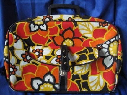 Florence's Floral Vintage Weekender Suitcase