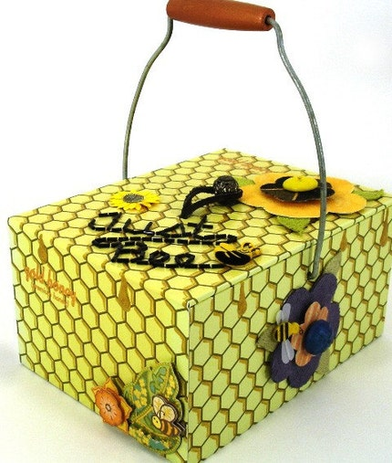 Just Bee Honeycomb Pattern Cigar Box Purse
