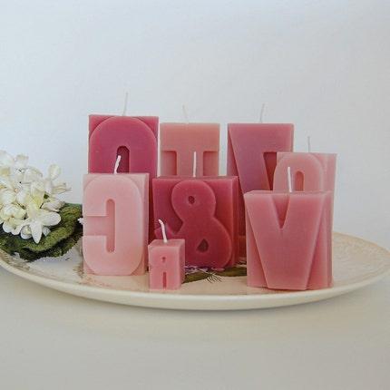 Letterpress Mixed Candles