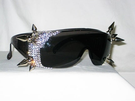 Diamonds Are A Spikes Best Friend -Swarovski Rhinestone and Spike Sunglasses