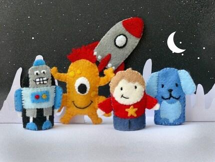 Blast Off - Finger Puppet Set (5 puppets)
