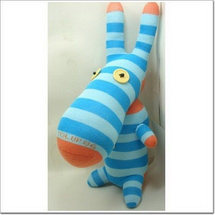 Handmade Sock Donkey Stuffed Animal Doll Baby Toys