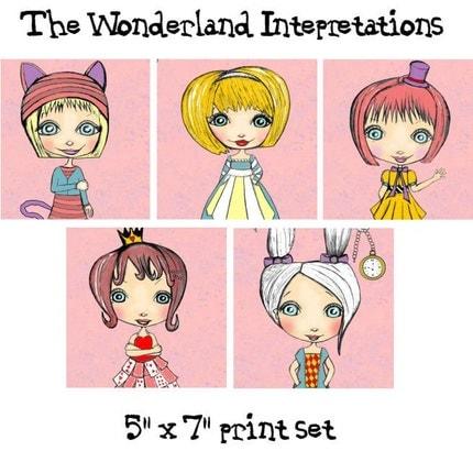 The Wonderland Interpretations 5 x 7 Print Set