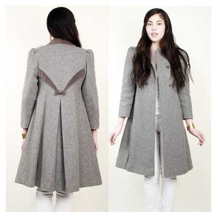 Vintage Gray Princess Coat xs