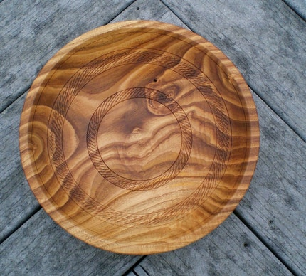 Chestnut Bowl with Decorative Texturing