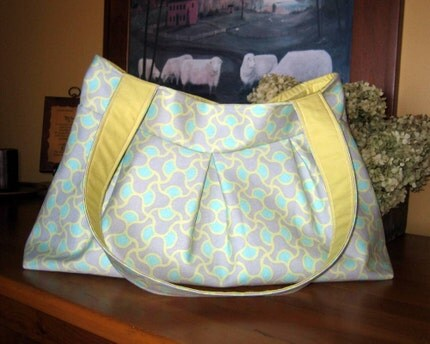 Sadie Handbag - Amy Butler August Fields Knot Garden Grey