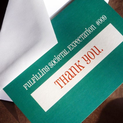 THANK YOU Societal Expectations Cards 10 pack by theRasilisk