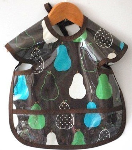 New Wipeable Brown Pears Shirt Bib-SPECIFY SIZE