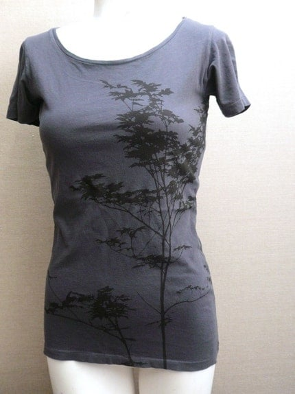 womens organic boatneck tree tee