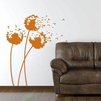 Vinyl Wall Art - 3 Dandelions