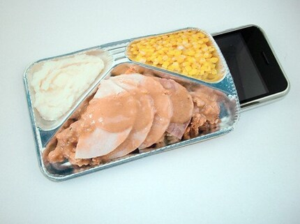 Retro TV Dinner Turkey Corn and Mash Potatoes Gadget Case - iPhone MP3 iTouch Cell Phones