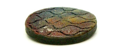 Matte Rough Honeycomb Raku Fired Ceramic Cabochon Tile Raku Jewelry Supplies Handmade by MAKUstudio