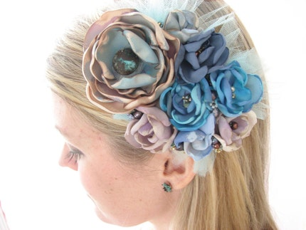 Only in Dreams, Fascinator Headpiece, statement brooch or bridal sash pin