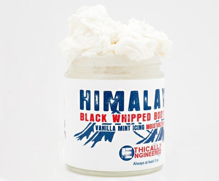 Himalayan Black Whipped Body Butter -- Vanilla Mint Icing
