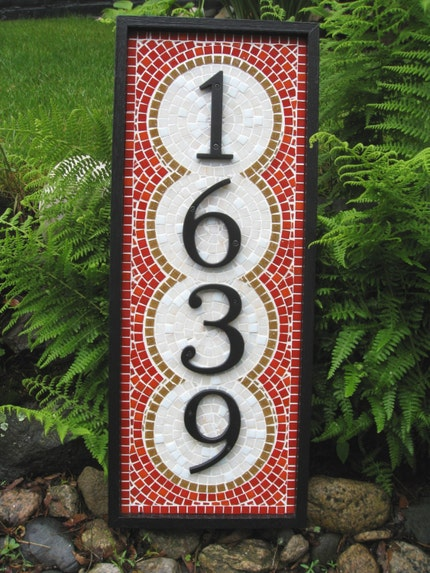 Artisan Mosaic Custom Address Plaque