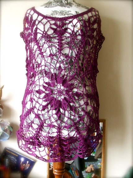 Crochet Top  MADE TO ORDER in your chosen by bluefishhandmade