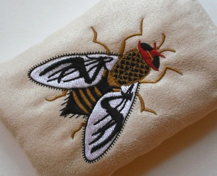 iPhone, Smart Phone, iPod or Digital Camera Case / Cozy with Embroidered Fly