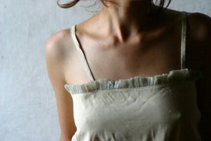 Cream pure silk Camisole  -Custom size