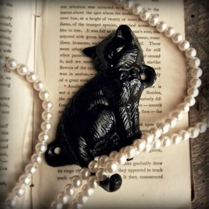 chat noir, cast iron wall hook